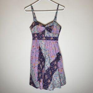 Anthropologie Maeve Patchwork Floral Dress